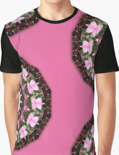 Pink blossoms, Flower Mandala Graphic T-Shirt