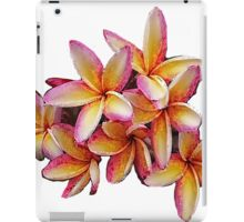 Hawaiian Pink Plumeria Blossoms iPad Case/Skin