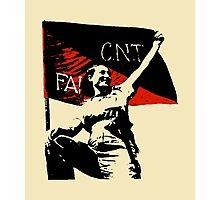 Anarchy Flag Woman - for bright backgrounds Photographic Print