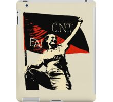 Anarchy Flag Woman - for bright backgrounds iPad Case/Skin