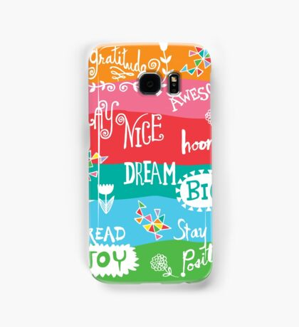 Woo Hoo Words Samsung Galaxy Case/Skin