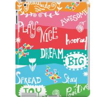 Woo Hoo Words iPad Case/Skin
