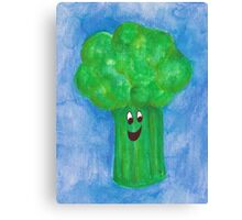 Happy Broccoli Canvas Print