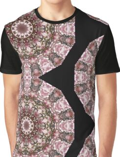 Pink blossoms, Floral mandala-style Graphic T-Shirt