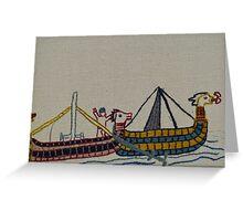 Viking ships arriving Greeting Card