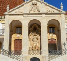 Grand entrance to Coimbra University  Sticker