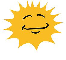 Radiant sun face smiley happy by Style-O-Mat