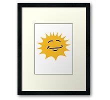 Radiant sun face smiley happy Framed Print