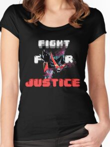 Overjustice -Fight for Justice!!!- Space patrol Luluco Women's Fitted Scoop T-Shirt