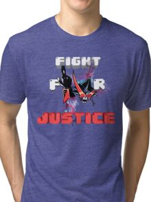 Overjustice -Fight for Justice!!!- Space patrol Luluco Tri-blend T-Shirt