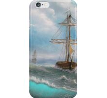Ocean, Sea, Sailing, Fresh painting. iPhone Case/Skin