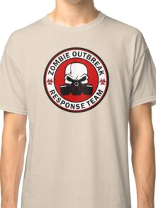 Zombie Outbreak Response Team Skull Gas Mask Classic T-Shirt