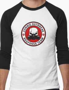Zombie Outbreak Response Team Skull Gas Mask Men's Baseball ¾ T-Shirt