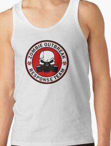 Zombie Outbreak Response Team Skull Gas Mask Tank Top