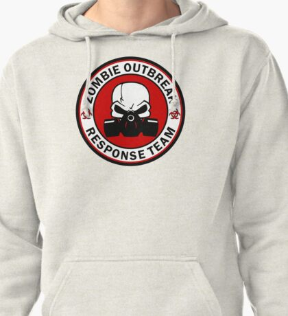 Zombie Outbreak Response Team Skull Gas Mask Pullover Hoodie
