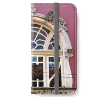 Art Nouveau window, Coimbra  iPhone Wallet/Case/Skin