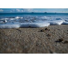 Foamy Shoreline  Photographic Print