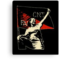 Anarchy Flag Woman - for dark backgrounds Canvas Print