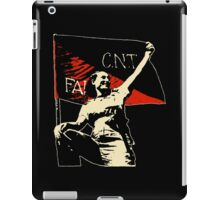 Anarchy Flag Woman - for dark backgrounds iPad Case/Skin