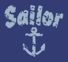 Sailor Anchor Used Light Blue by theshirtshops