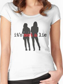 It's Not A Lie Women's Fitted Scoop T-Shirt