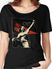 Anarchy Flag Woman - for dark backgrounds Women's Relaxed Fit T-Shirt