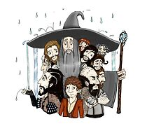 The Hobbit- an unexpected rainfall by VenereRossa