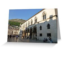 Rectors Palace Dubrovnik Greeting Card