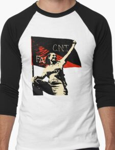 Anarchy Flag Woman - for bright backgrounds Men's Baseball ¾ T-Shirt