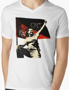 Anarchy Flag Woman - for bright backgrounds Mens V-Neck T-Shirt