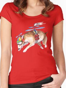 Beanie Bully - apparel Women's Fitted Scoop T-Shirt