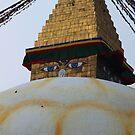 Kathmandu Stupa Eyes by John Dalkin