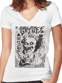 Grimes Cover Women's Fitted V-Neck T-Shirt