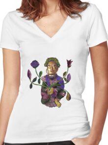 vairocana Women's Fitted V-Neck T-Shirt