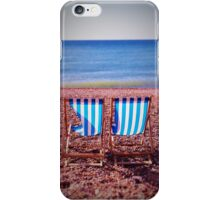Deck Chairs on Beach iPhone Case/Skin