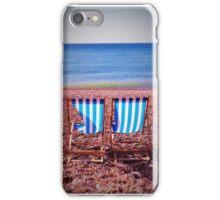 Deck Chairs on Beach iPhone Case/Skin