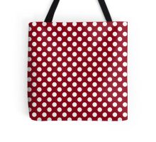 Classic Dots with Red Background Tote Bag