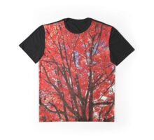 Fall in Red Graphic T-Shirt