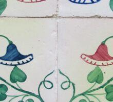 Bells and flowers Lisbon tiles Sticker