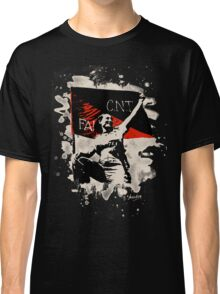 Anarchy Flag Woman - bleached look Classic T-Shirt