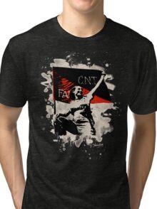 Anarchy Flag Woman - bleached look Tri-blend T-Shirt