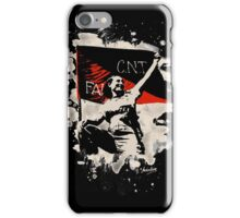 Anarchy Flag Woman - bleached look iPhone Case/Skin