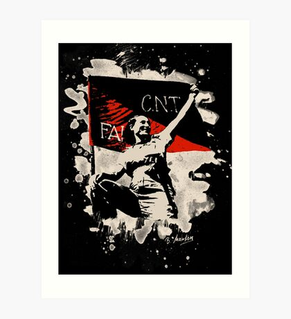 Anarchy Flag Woman - bleached look Art Print