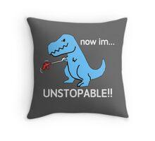 Unstopable Dino Throw Pillow