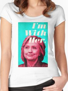 Hillary Clinton - I'm With Her Women's Fitted Scoop T-Shirt