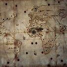 1529 World Map of Girolamo de Verrazano Vatican Museum Rome Italy 19840723 0037  by Fred Mitchell