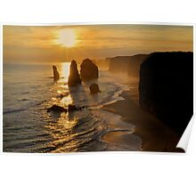 Glowing Sunset, 12 Apostles Poster