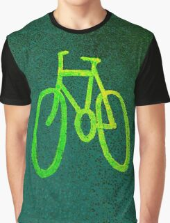 Cycle Lane - Green Graphic T-Shirt