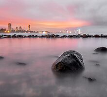 Burleigh on the Rocks - Gold Coast Qld Australia by Beth  Wode