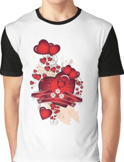 Love hearts Graphic T-Shirt
